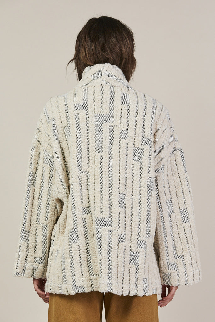 Patch Pocket Jacket, Grey/Cream by Horses Atelier @ Kick Pleat - 6