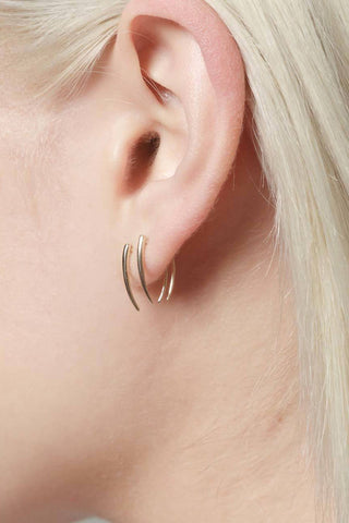Infinite Tusk Earrings, Gold