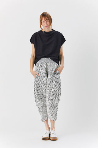 Billow Stretch Pant, Black & White