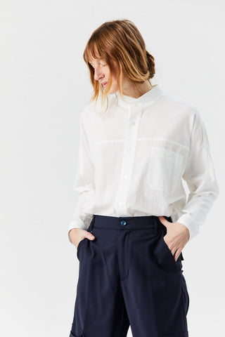 Cotton Air Shirt, White