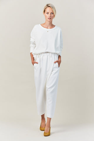 cross over pant, white