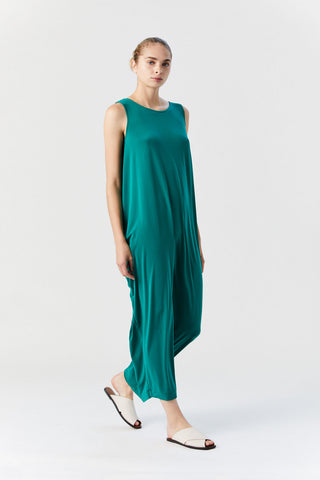 Drape Jersey Maxi Dress, Green