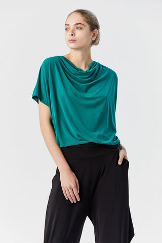 Drape Jersey Shirt, Green