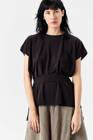Drape Jersey Top, Charcoal