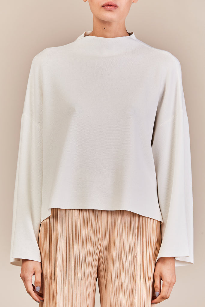 knit sweater, IVORY