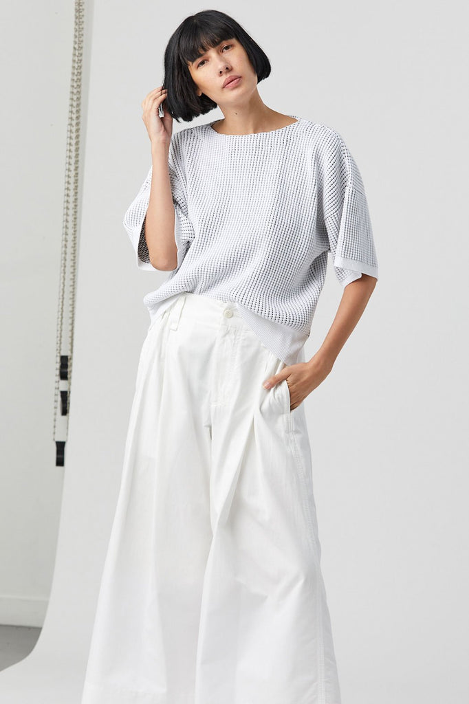 Seed Knit, White