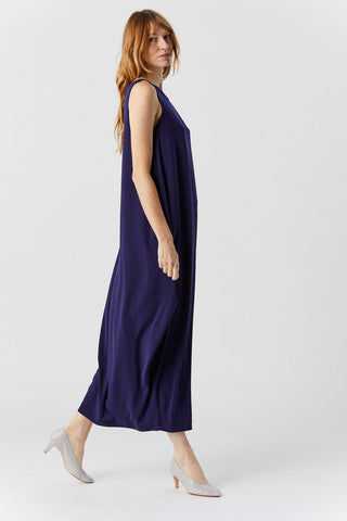 Drape Jersey Dress, Navy