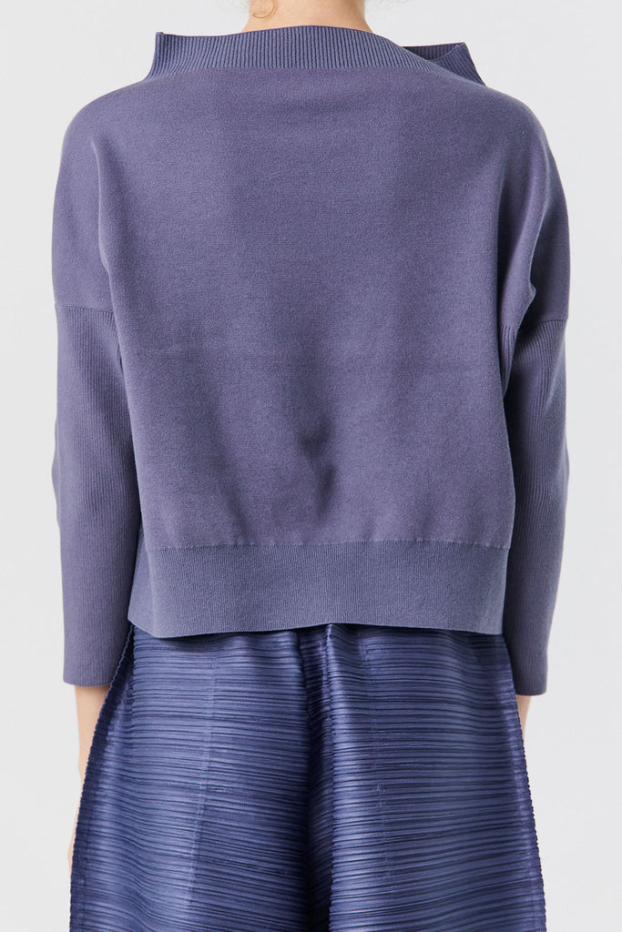 Pleats Please by Issey Miyake - Pita Knit Top, Gray