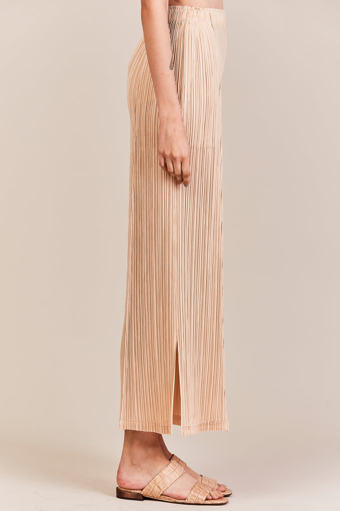 pleated pants, nude