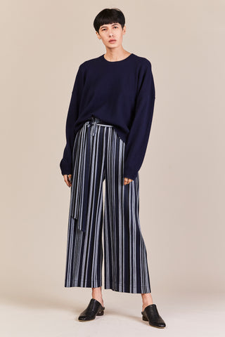 stripe pant w/ belt