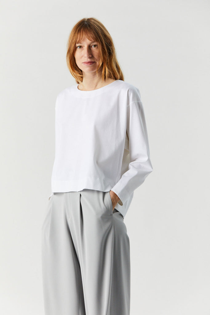 Unique Long Sleeve Tee, White