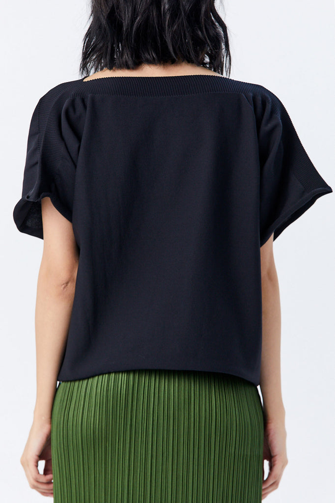 Pleats Please by Issey Miyake - Yeah Knit Top, Black