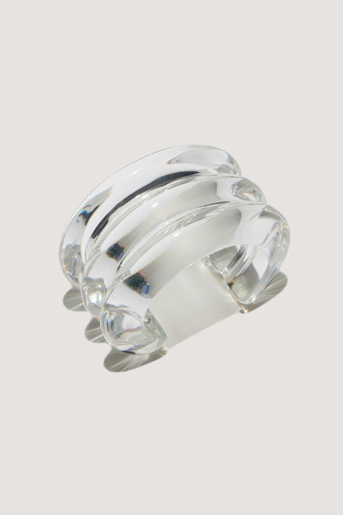 Triple Ridge Cuff, Clear