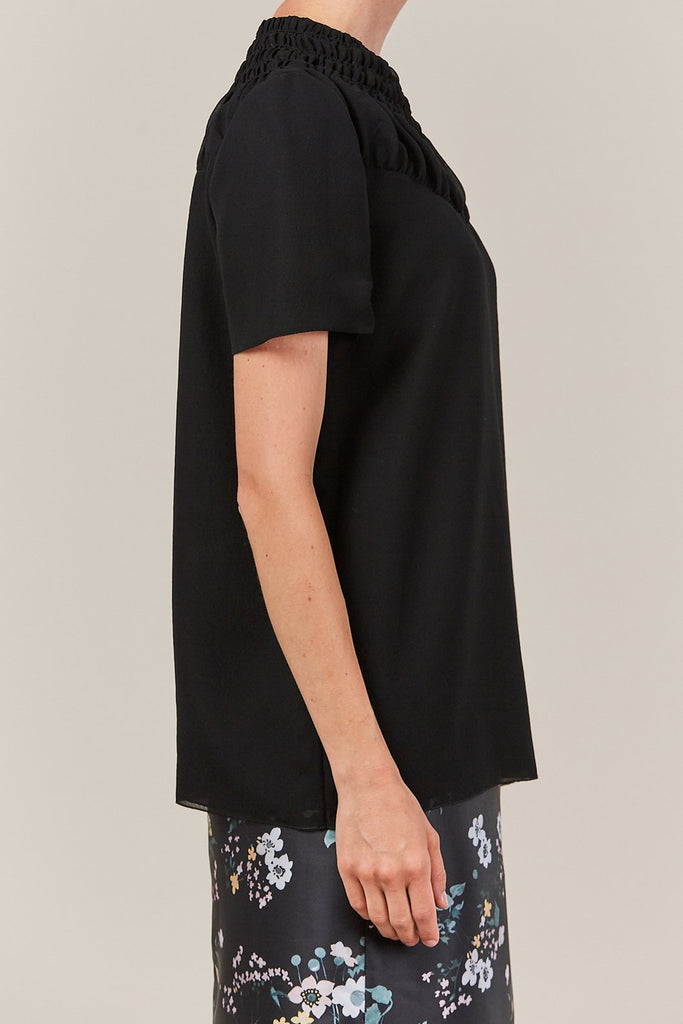 Jil Sander - ebano high neck blouse