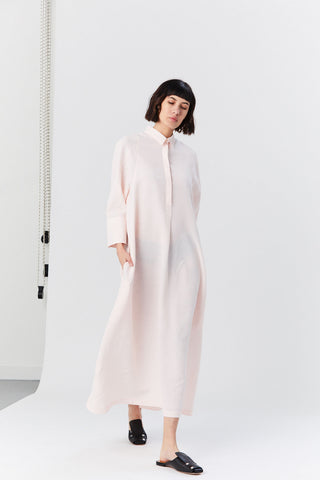 Galalite Shirt Dress, Light Pink