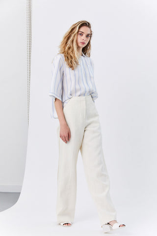 Glenn Wide-Leg Pants, White
