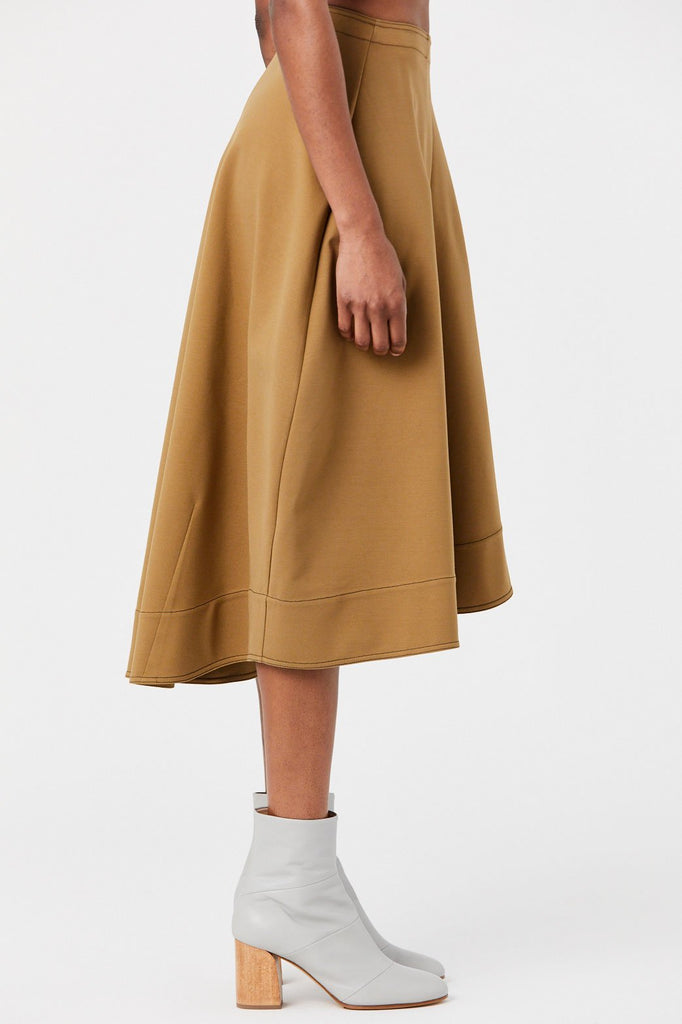 Jil Sander - Flared Midi Skirt, Dark Beige