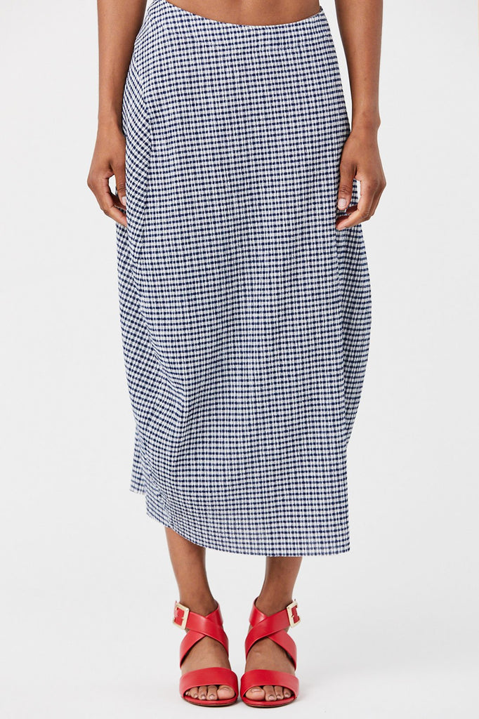 Jil Sander - Checked Skirt, Dark Blue