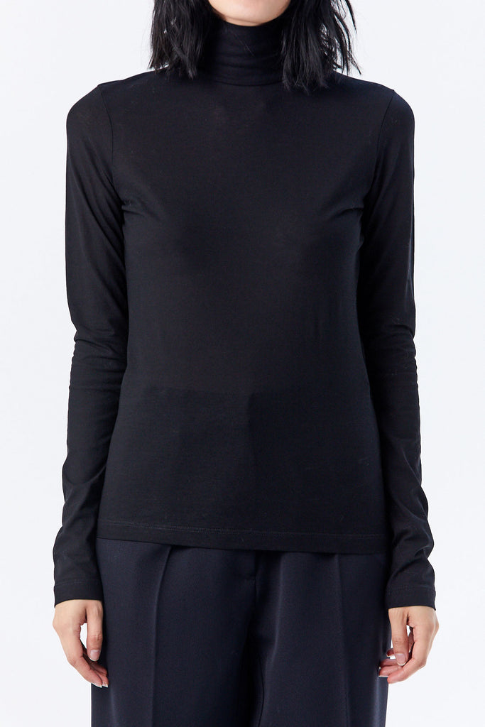 JIL SANDER - Turtleneck Top, Black