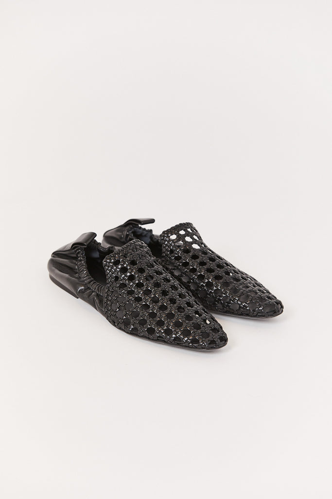 Perforated Slipper, Black