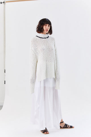 Knit Pullover, White