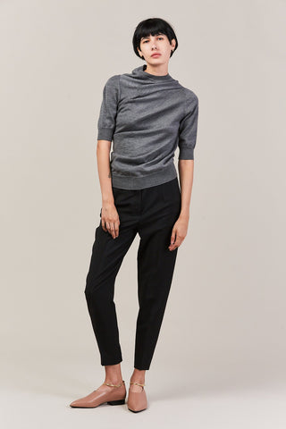 short sleeve sweater, grey