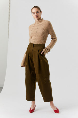Mock Turtleneck Sweater, Medium Beige