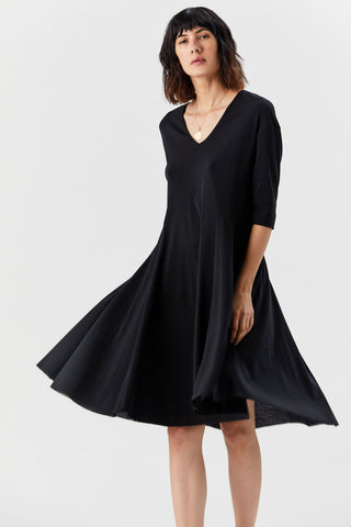 Flared Dress, Black
