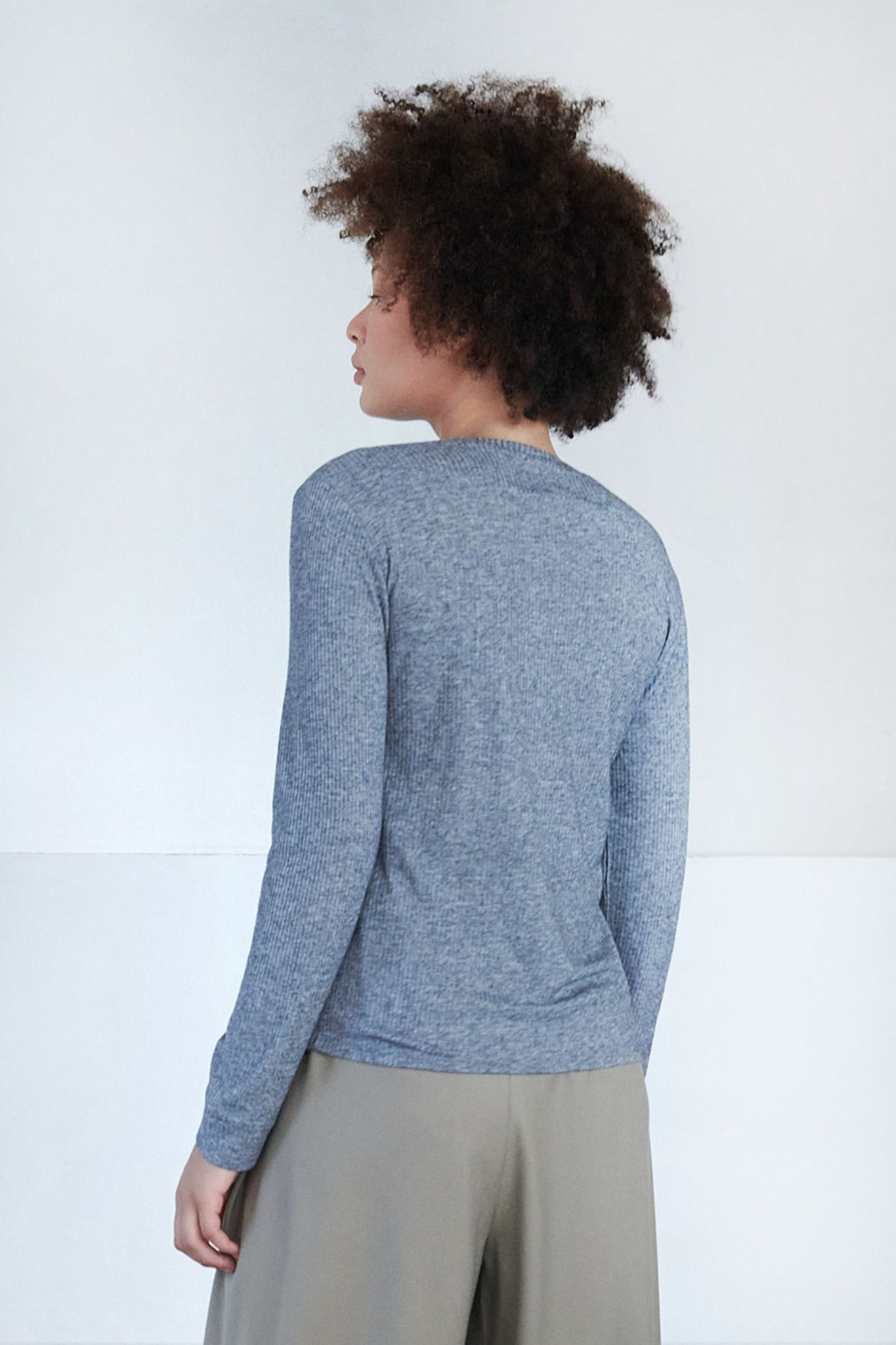 LOULOU STUDIO - manches longues top, grey