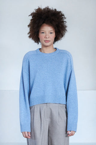 BRUZZI pull oversize sweater, blue