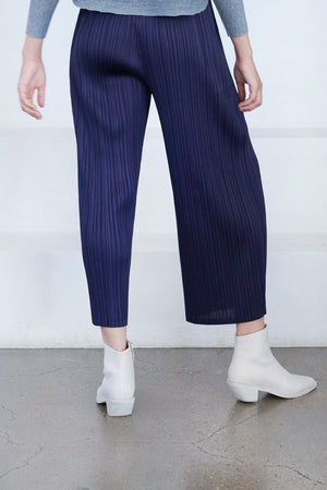 Pleats Please by Issey Miyake - com moto pant, navy