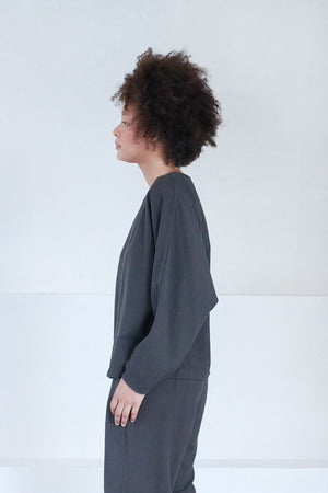 BLACK CRANE - dorman pullover, dark grey