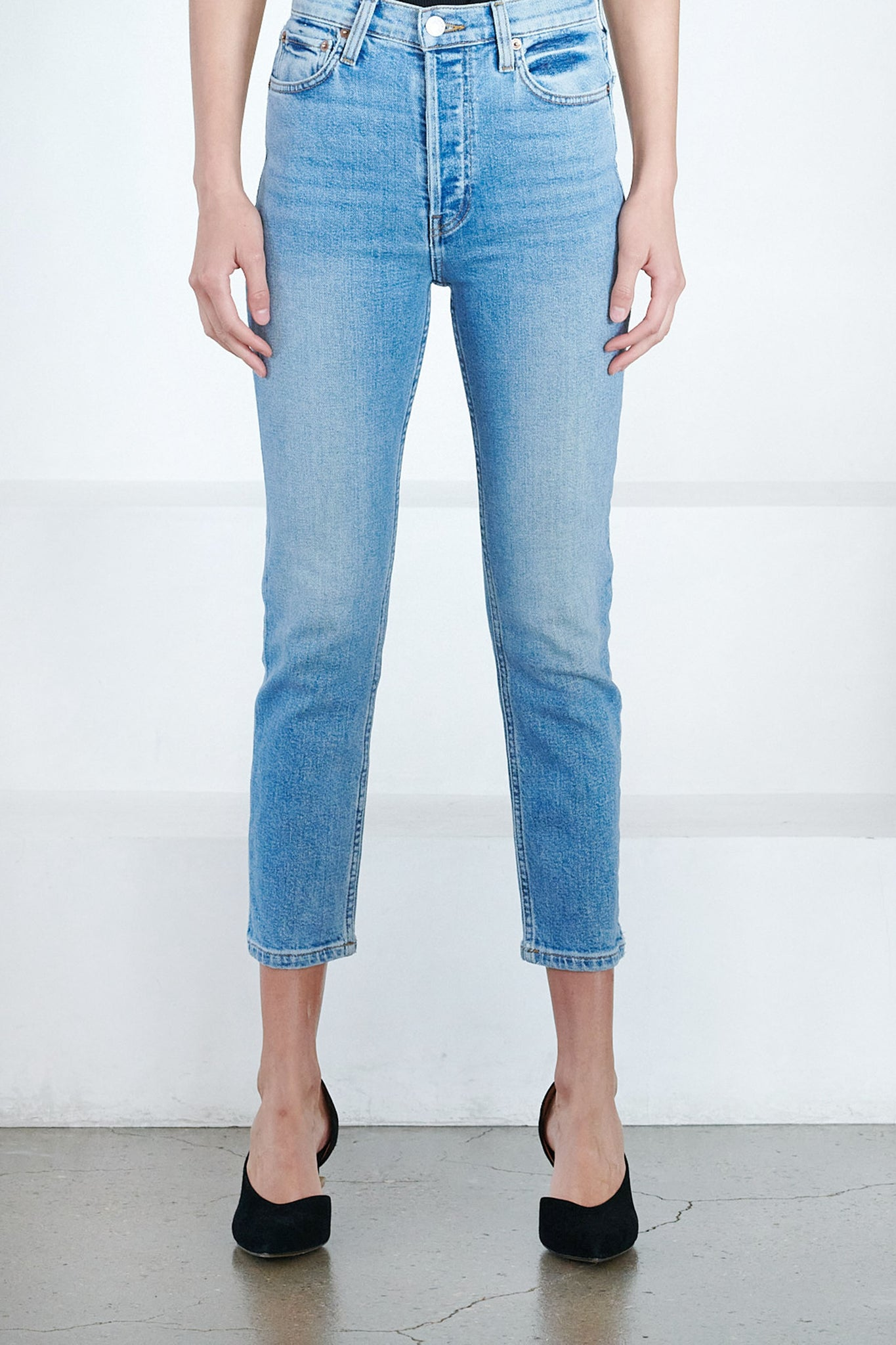 RE/DONE - 90s high rise ankle crop, Hazy Indigo