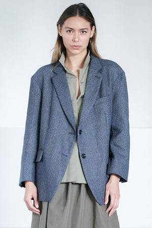 Hache - oversized jacket, herringbone
