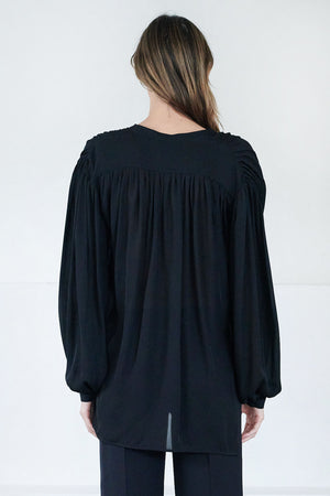 KHAITE - denny top, black