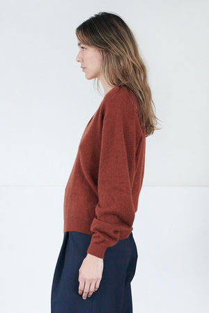 KHAITE - sam sweater, mahogony