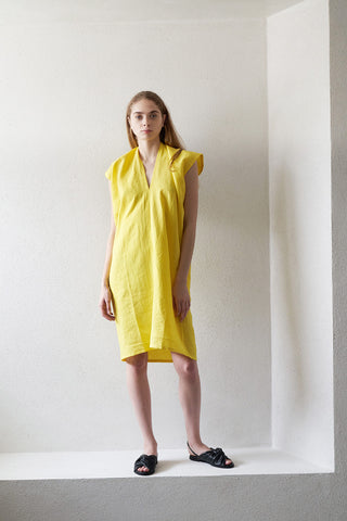 everyday linen dress, citron