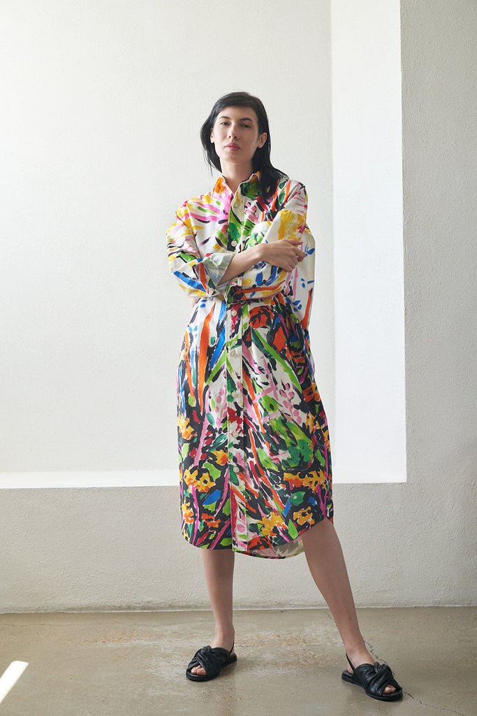 MARNI - button down shirt dress, sun