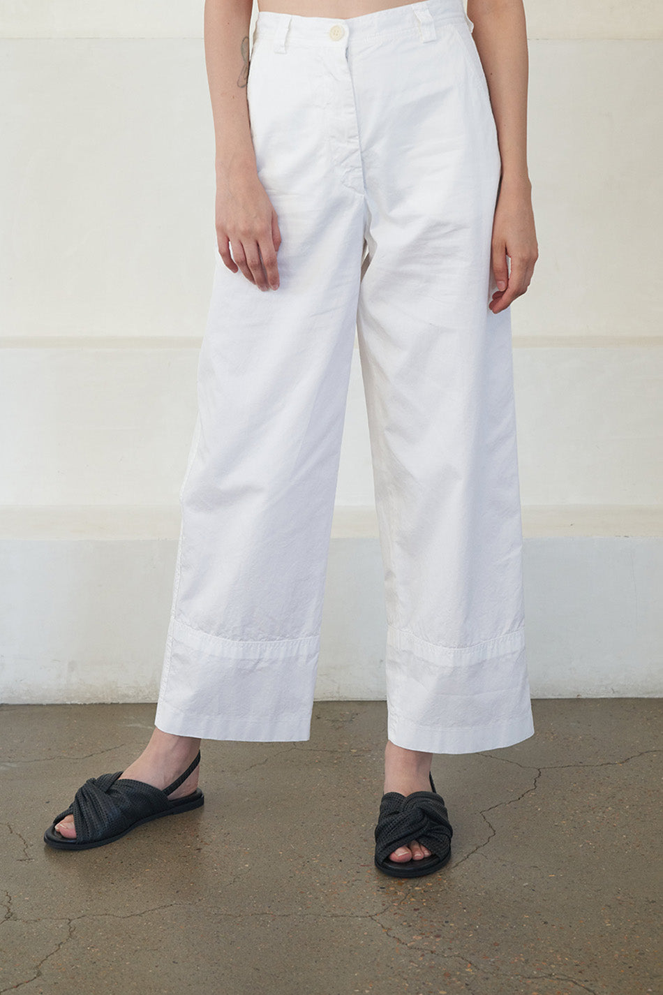 DRIES VAN NOTEN - casual pant, white