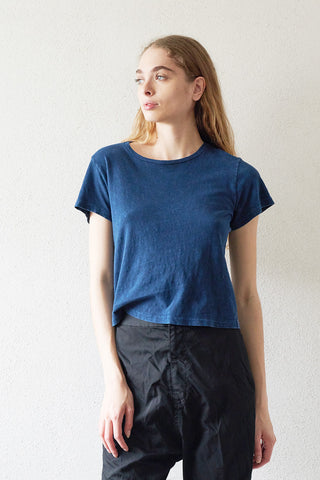 70s loose tee, wash navy