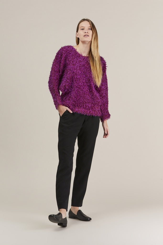 Fuzzy Sweater, Pink by Pleats Please by Issey Miyake @ Kick Pleat - 2