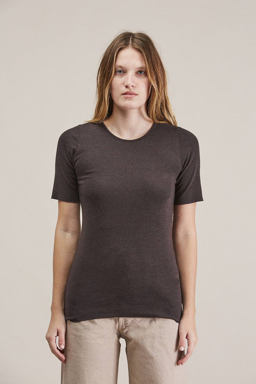 Rib tee, Charcoal by Lauren Manoogian