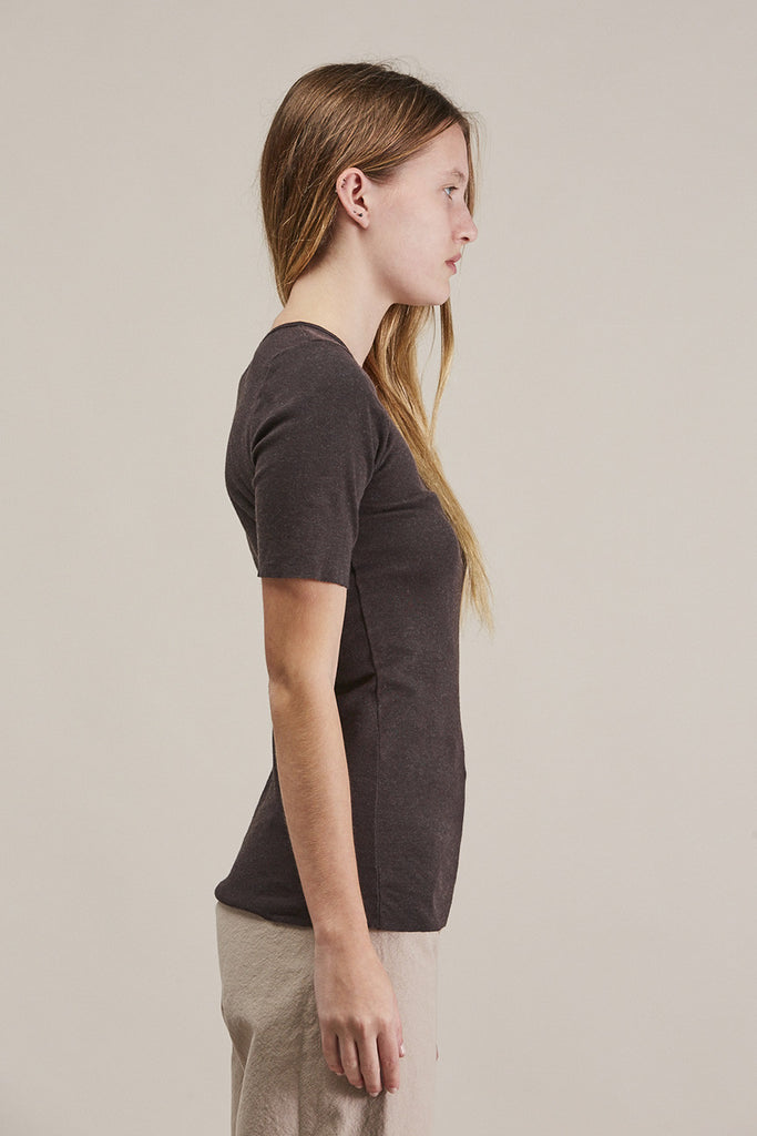 Rib tee, Charcoal by Lauren Manoogian @ Kick Pleat - 6