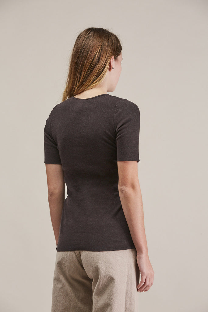 Rib tee, Charcoal by Lauren Manoogian @ Kick Pleat - 7