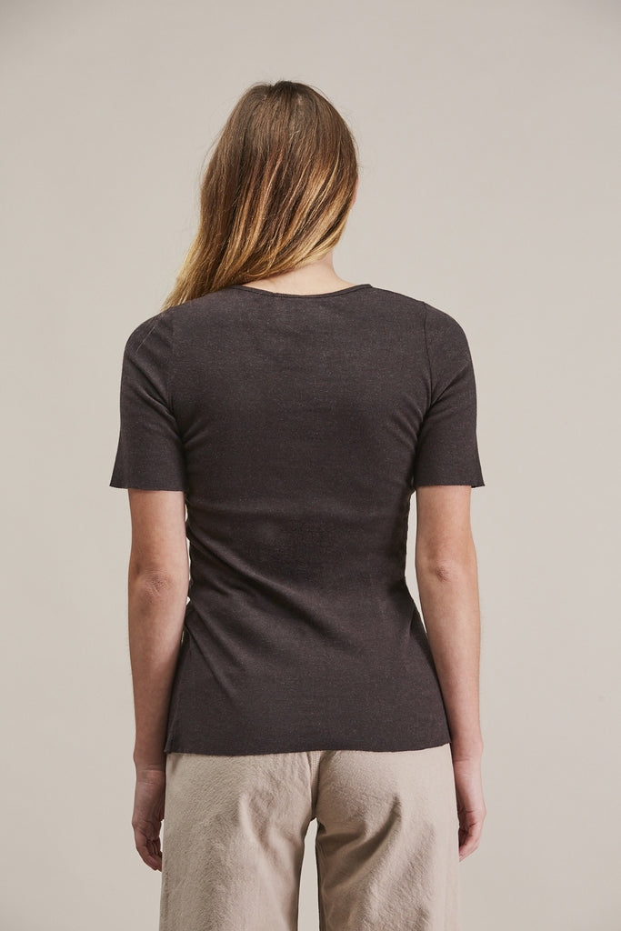 Rib tee, Charcoal by Lauren Manoogian @ Kick Pleat - 8