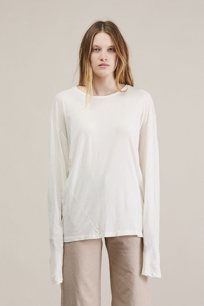 Vellum long tee by Lauren Manoogian @ Kick Pleat - 1