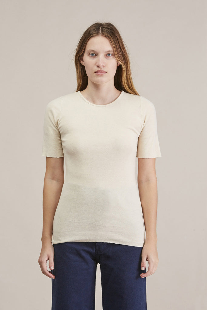 Basic rib tee, Bone by Lauren Manoogian @ Kick Pleat - 1