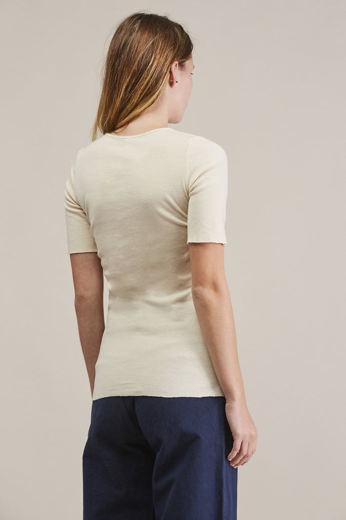 Basic rib tee, Bone by Lauren Manoogian @ Kick Pleat - 5