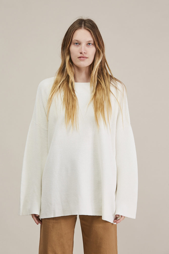 Adrian Sweater, White