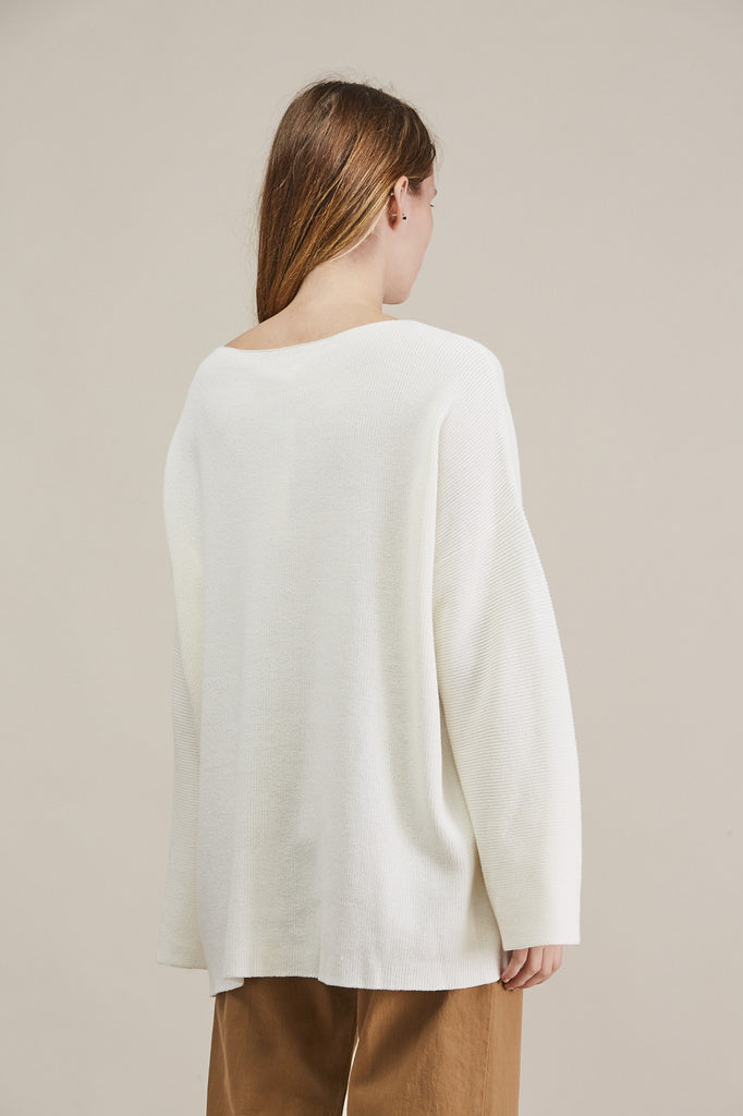 Adrian Sweater, White by Demylee